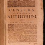 1694 Blount Censura Celebriorum Bibliography Plato Agrippa Brahe Galileo Dante