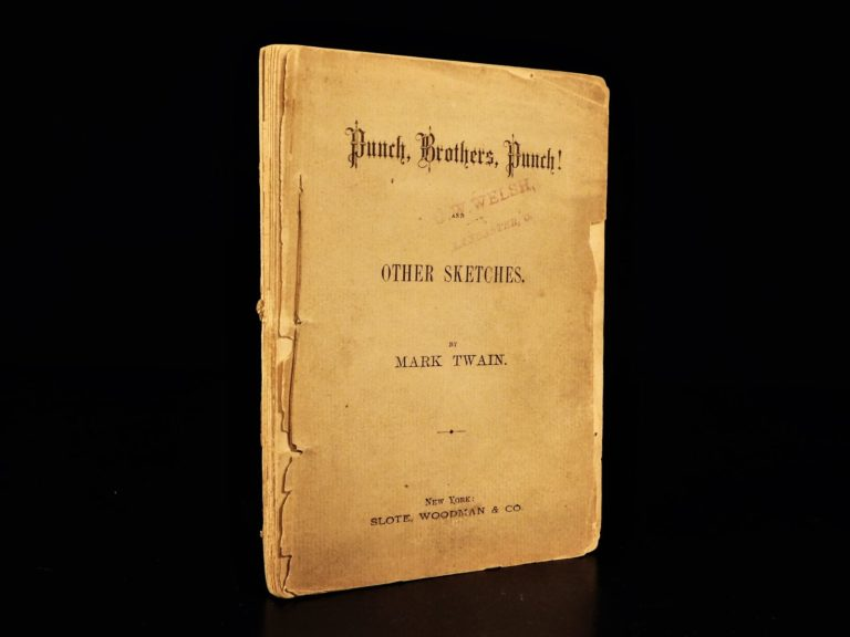 Image of 1878 1st/1st Mark Twain Punch Brothers Punch Literary Nightmare Earworm Jingle