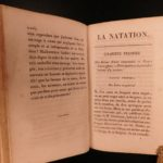 1824 Swimming Training in French Military Courtivron Illustrated Natation Diving