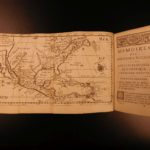 1722 1ed Voyages in America Labat West Indies Illustrated MAPS Caribbean Cuba