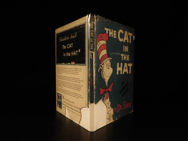 Image of 1957 TRUE 1st/1st Cat in the Hat by Dr Seuss +Orig DJ Children Illustrated RARE