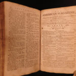 1787 1ed American Magazine Jefferson Constitution Federalist Slavery Indians 6v