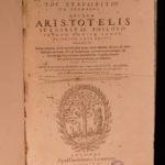 1590 HUGE FOLIO Works of ARISTOTLE Greek Philosophy Laertius Geneva Stagiritae