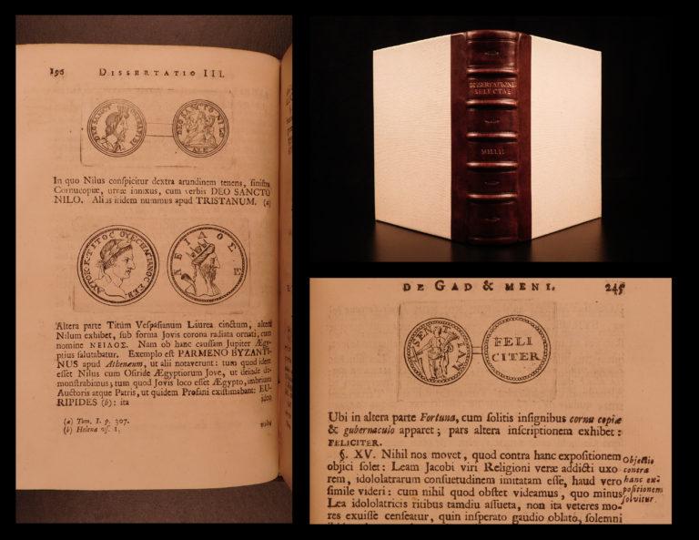 Image of 1743 1ed David Mill Oriental Treatises MUSLIM Arabic Muhammed Islam Coins RARE