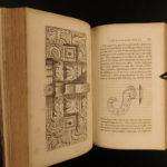 1843 Yucatan Incidents of Travel John Stephens MAYA Illustrated Archaeology 2v