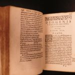 1560 Diogenes Laertius Eminent Philosophers Greek Philosophy Aristotle Socrates