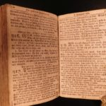 1771 RARE Swedish Book of PSALMS Bible & Catechism Stockholm Sweden Scandinavia