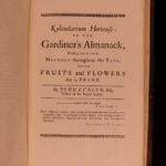 1729 GARDENING Silva English Forestry Botany Cider Pomona GARDENS Evelyn
