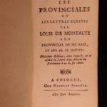 1685 Blaise Pascal Provincial Letters Witchcraft Sorcery JESUIT Philosophy Magic
