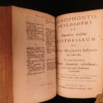 1674 Xenophon Cyropedia Greek Philosophy Cyrus the Great Leunclavius 2in1 Latin