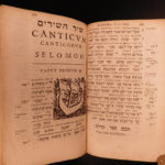 1632 RARE Hebrew Psalms of David & Old Testament Bible Hebraica Judaica Jewish