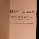 1772 Alexander Pope Poetry Essay on Man English Philosophy in 5 LANGUAGES!