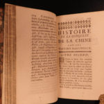 1754 1ed History of Conquest of CHINA Ming Qing Dynasty JESUIT Missionaries 2v