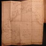 1781 1ed Captain James Cook Voyage Australia Zealand Hawaii Pacific MAP Rickman