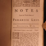1738 Paradise Lost John Milton English Poetry Illustrated Allegory Adam & Eve