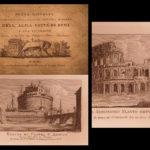 1830 1st ed Views of ROME Illustrated Vasi Engravings Pantheon Coliseum Vatican