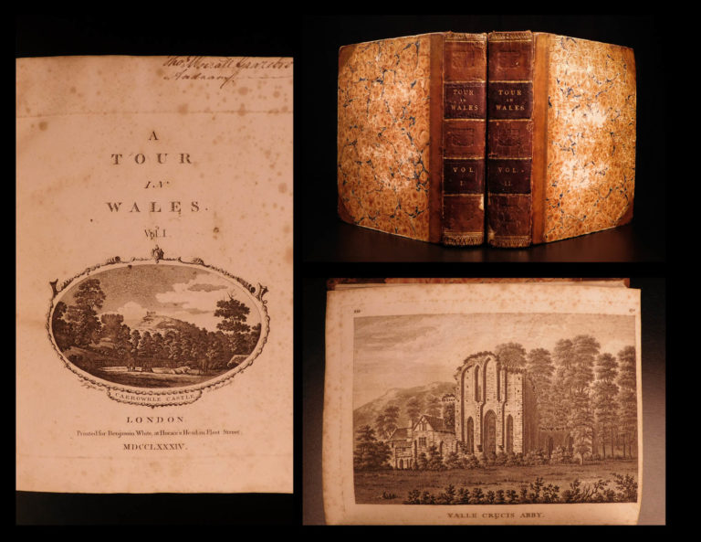 Image of 1784 1st ed A Tour of Wales Welsh Thomas Pennant Illustrated Guide Book Castles