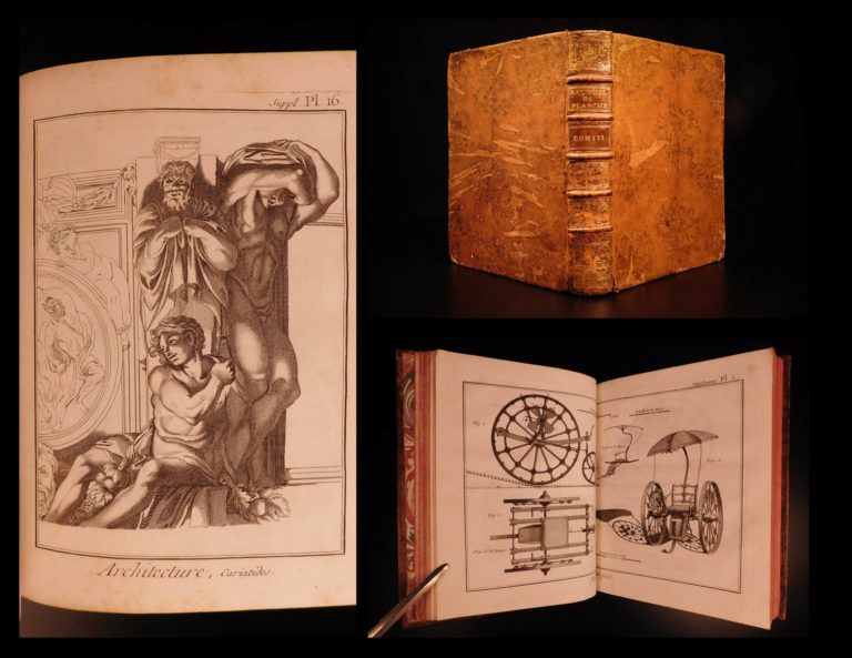 Image of 1779 Diderot Encyclopedia Illustrated Medicine Military Music ART Architecture