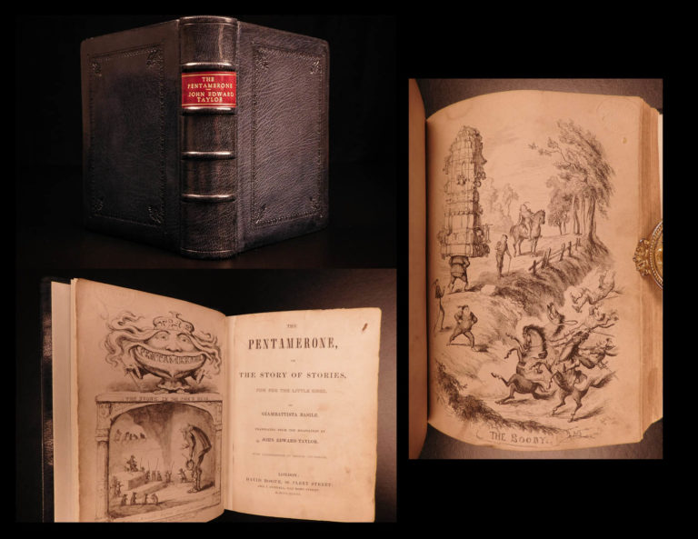 Image of 1848 Basile Pentamerone Fairy Tales Cinderella Snow White Cruikshank Illustrated