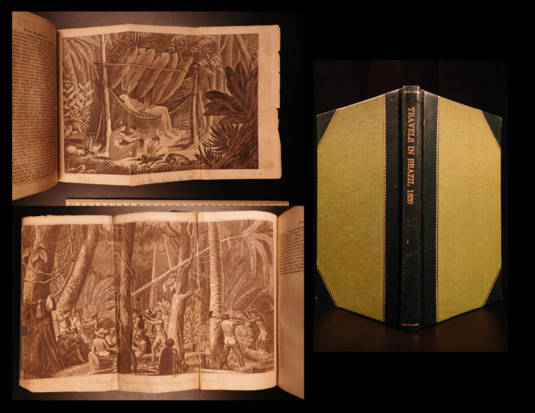 Image of 1820 1ed Travels in BRAZIL South America Illustrated Indians Voyages Wied