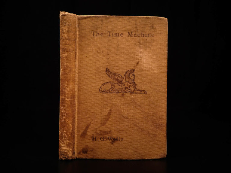 Image of 1895 1st ed HG Wells Time Machine SciFi Time Travel Space FAMOUS Fantasy Novel