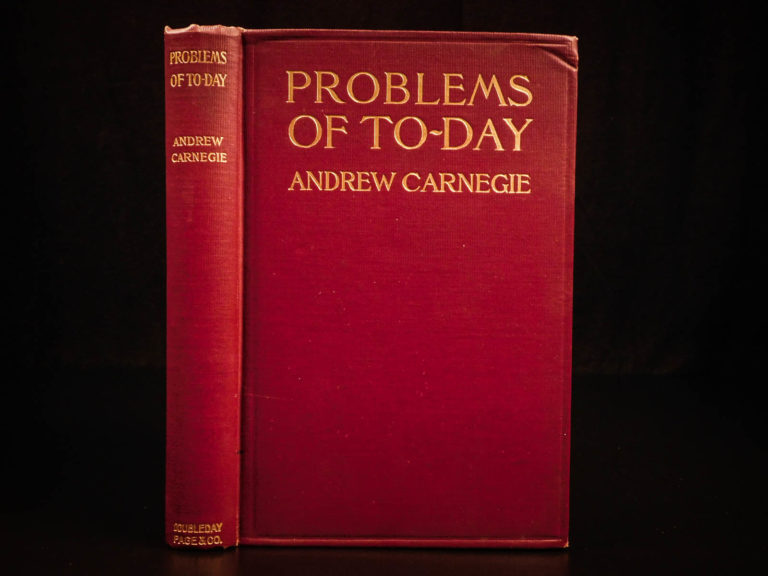 Image of 1909 1st ed Andrew Carnegie Problems of Today Wealth Labor Socialism Capitalism