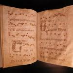 1400s Handwritten Medieval Manuscript Antiphonal CHANT Gregorian Music Catholic