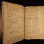 1857 George Washington Personal Finance Ledger Revolutionary War Americana