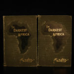 1890 First edition In Darkest Africa Stanley Emin Pasha Expedition Livingstone
