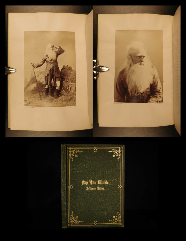 Image of 1870 Rip Van Winkle FAMOUS Jefferson Ed Irving Sarony Photograph Illustrations