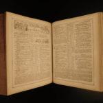 1865 EXQUISITE BIBLE Civil War English Holy Land MAP Cobbin King James KJV