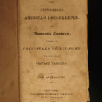 1823 1ed Rundell Cookbook American Housekeeper Economy Recipes Cooking Baking