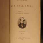 1866 1ed New York Stage American THEATER Actor Joseph Ireland James Hackett 2v