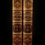 1848 1st ed EXQUISITE John Keats Life Letters & Literary Remains English Poetry