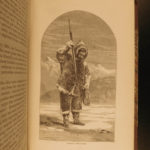 1865 1ed Life with Inuit Eskimos Arctic Expedition Hall Illustrated Canada MAP