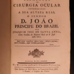 1793 1ed OPHTHALMOLOGY Ocular Eye Surgery Portuguese Medicine Lisbon Brazil