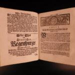 1729 Vogl Ratisbona Ratisbon Regensburg Politica Benedictine Monastics Emmeram