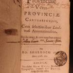 1664 English LAW Lyndwood Provinciales Acton + Sharrock Canterbury Oxford
