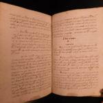 1600s Aristotle Handwritten Latin Manuscript Philosophy Metaphysics Generation