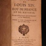 1667 King Louis XIV France LAW Ordinances Versailles Sun King 3v French Crimes