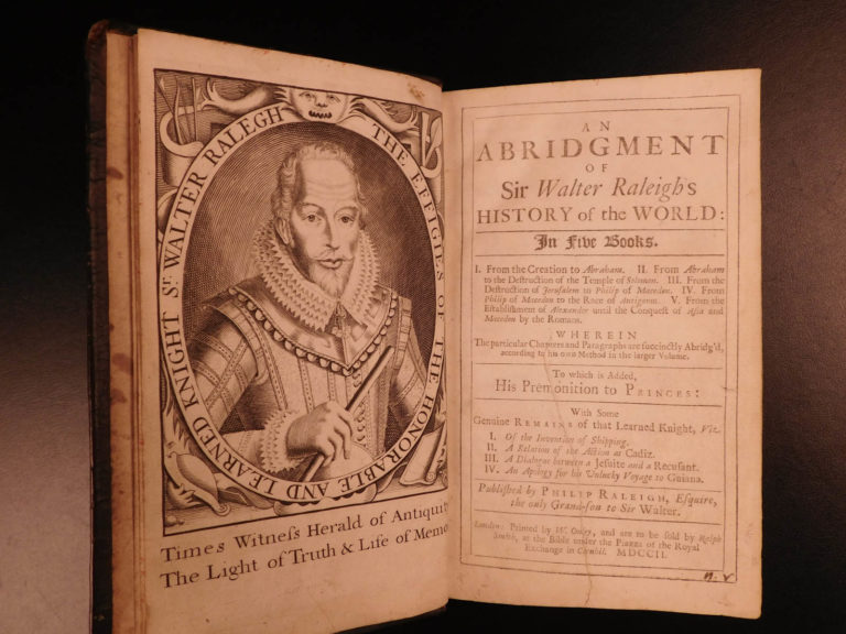 Image of 1702 Walter Raleigh Explorer History of the World Rome Egypt Trojan Punic War