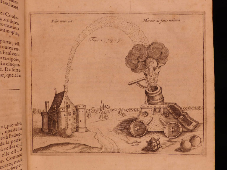 Image of 1628 Artillery Diego Ufano GUNS Illustrated War Cannon Tactics French FOLIO