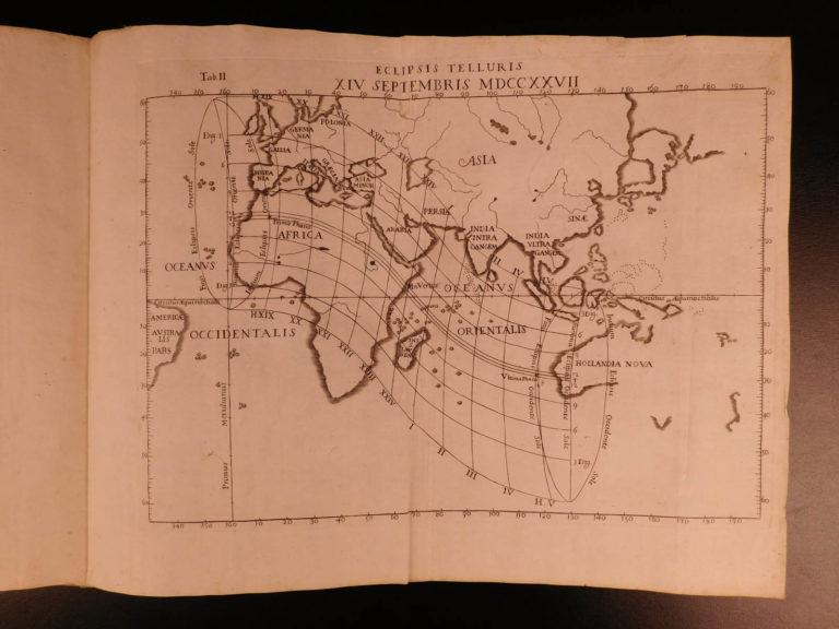 Image of 1725 Astronomy Manfredi Ephemerides Motuum Illustrated Comets Eclipses MAPS