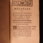 1770 Oriental Literature Persia TURKS Arabic Fables Manuscripts 2in1 Cardonne