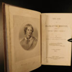 1857 1ed Life of Charlotte Bronte by Gaskell English Romance Literature 2v SET