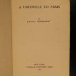 1929 1st/1st Farewell to Arms Hemingway World War I Military Romance CLASSIC