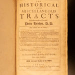 1681 1st ed Historical Tracts Peter Heylyn Church of England History of Sabbath