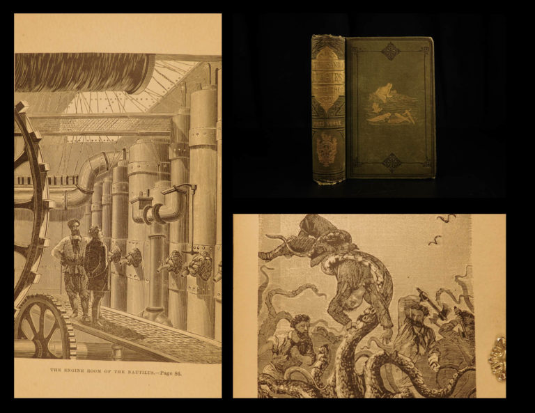 Image of 1880 Jules VERNE 20,000 Leagues Under the Sea English Illustrated CLASSIC