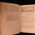 1788 1ed RARE Marolles Chasse au Fusil RIFLE Hunting Crossbows Guns Illustrated