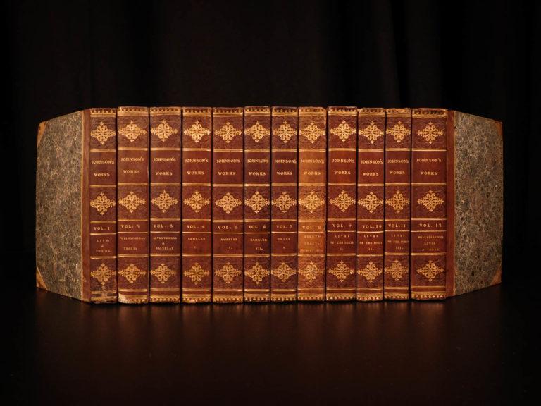Image of 1816 Works of Samuel Johnson w/ FAMOUS Murphy Essay English Biography 12v SET